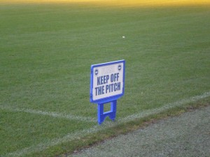 keep off the pitch