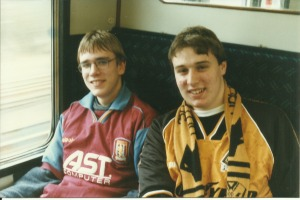 Rival fans on their way to the Goldstone Ground