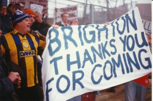Brighton fans thank you for coming