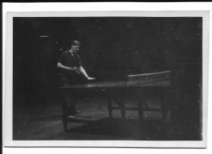 Gordon playing table tennis