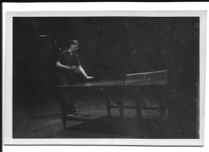 Gordon playing table tennis