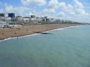 Brighton beach taken from the pier