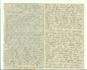 letter from Gordon to his mother