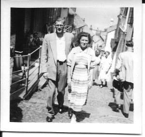 Gordon and Enid in Clovelly 1950s
