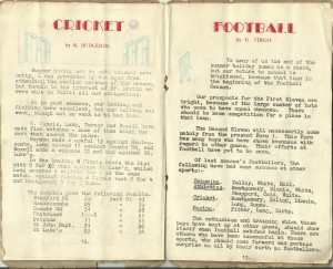 Park Street school mag; cricket, football