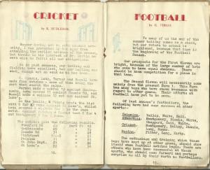 Park Street school mag; cricket, football