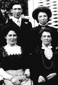 Elizabeth Collins, front right