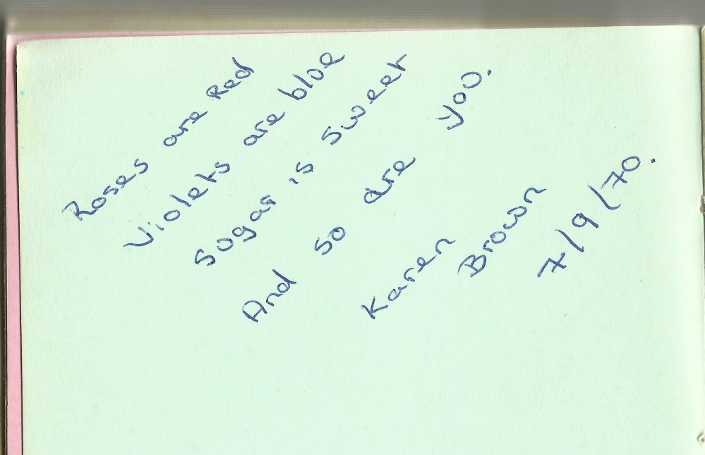 Autographs - messages from friends (3/5)
