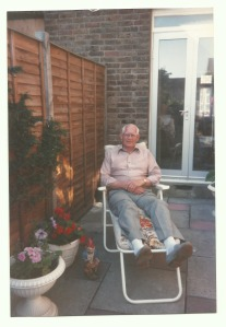 Dad in the garden