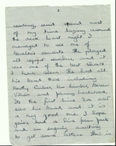 Some of the letter sent from Gordon to his mother.