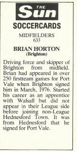 Brian Horton back