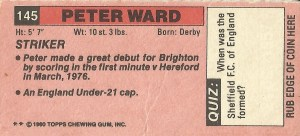 Brighton Peter Ward back
