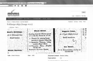 Folthorps Directory 1859 via www.mhms.org.uk
