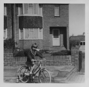Learning to ride my bike in Farm Hill, Woodingdean, in the summer of 1964