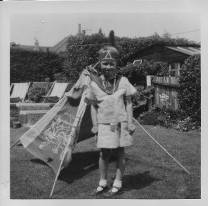 Playing cowboys and indians in next doors garden, summer 1964