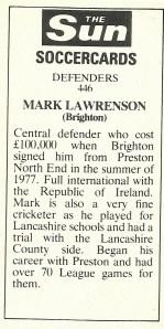 Mark Lawrenson back