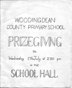 Woodingdean Primary School Prizegiving 1968