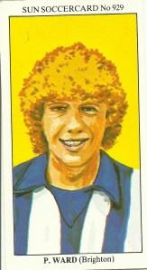 Peter Ward Sun Soccercard front