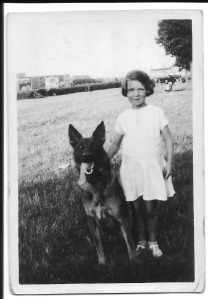 Enid Dinnis with dog