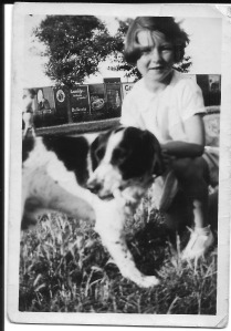 Enid and dog