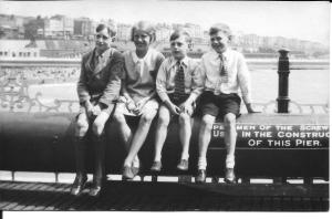Dinnis family on Palace Pier