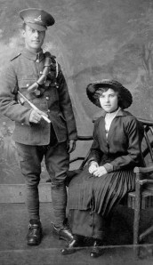 John Albert Harold Walter with his wife Florie Dinnis in 1916