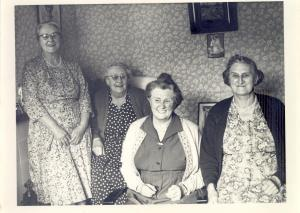 Four of the Cleeve sisters, left to right Rose, Edie, Olive and Annie (my maternal grandmother)