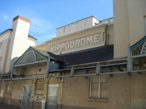 The Hippodrome, theatre long closed.