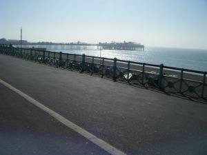 Standing on the same spot, facing the other direction. The Palace pier and Brighton seafront.