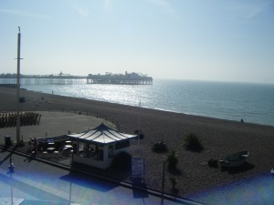 The Palace pier, view from the promenade.