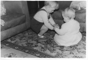My cousin Ian and myself as a baby