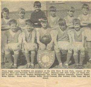Ian and the football team