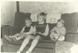 Ian with his older sister Sue, and me