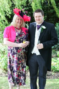 Jonathan and me at Emma's wedding 2012
