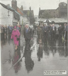 The Queen in Lewes, from The Argus