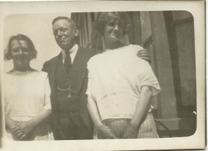Taken in 1924, Alfred is in between two ladies, one of whom is Cora. Not sure which one!