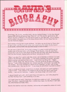 Biography page one