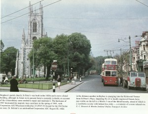 St Peters Church with Richmond Terrace on the right in 1961