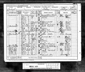 England Census 1891 for John William Forbes and Fanny Forbes