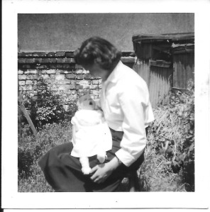 Gordon Dinnis with baby Jacqueline Ann, aged 6 weeks