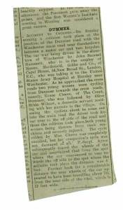 newspaper report of cycling accident