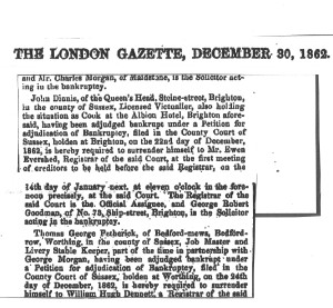 The London Gazette 30 December 1862