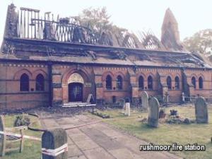 Fire destroys roof of All Saints Church, Fleet