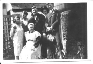 Caroline A Brown, seated. Winifred Howells second from left.