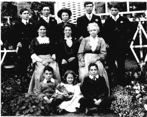 The Cockett family Queenie, middle front row Doll, middle back row