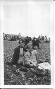 5 August 1931  Brighton beach Annie and her daughter Nancy
