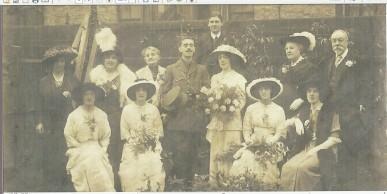Wedding of Maud Beatrice Crocker and Arnold Carnegie Heron 1914