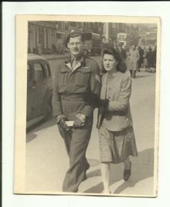 Gordon and Enid Queens Road, Brighton 9 April 1947