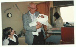 November 1989 Gordon with his new grandson, and his granddaughter