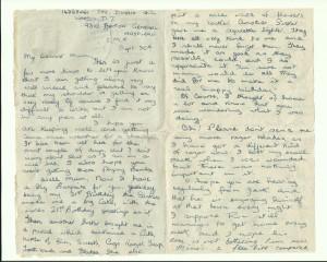 Letter describing birthday part one
